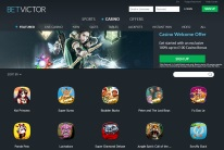 BetVictor Casino Homepage