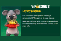 VIP Bonuses in Fair GO Casino