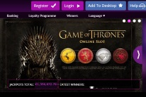 JackpotCity Game of Thrones Slot Game