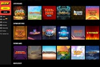 Wide variety of games at Rizk Casino