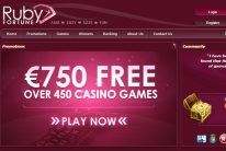 Ruby Fortune Casino Welcomes You with a Good Bonus